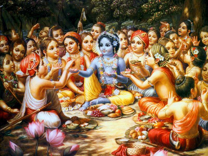 Varuthini Ekadasi-Krishna_has_lunch_with_gopas_2