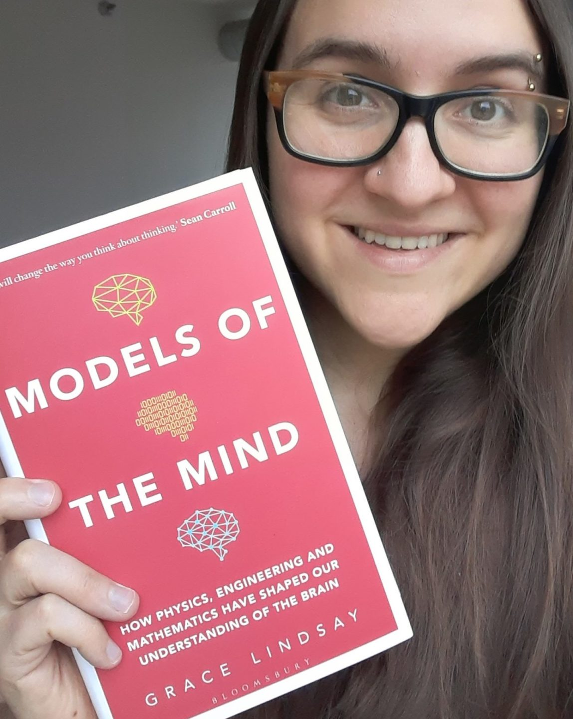 The author with her book