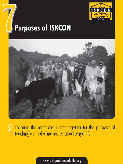 The Seven Purposes of ISKCON
