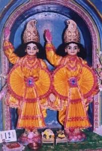 Sri Sri Gaura-Gadadhara at Yogapitha, the birth place of Sri Gauranga